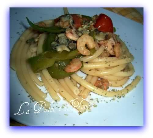 Bucatini bella Italia al link la ricetta e gli ingredienti http://www.lapulceeiltopo.it/forum/ricette-primi-piatti/680-bucatini-bella-italia#834
