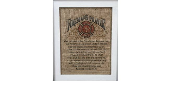 Firemans Prayer Burlap Print  #Fireman #firefighters #prayers #pray #homedecor #thinredline #gcrdesigns