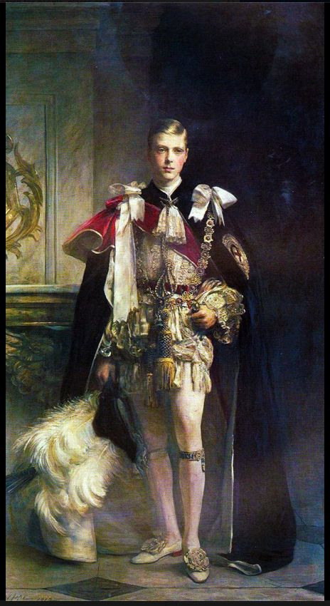 Edward VIII:  1936 (abdicated) in Order of the Garter robe