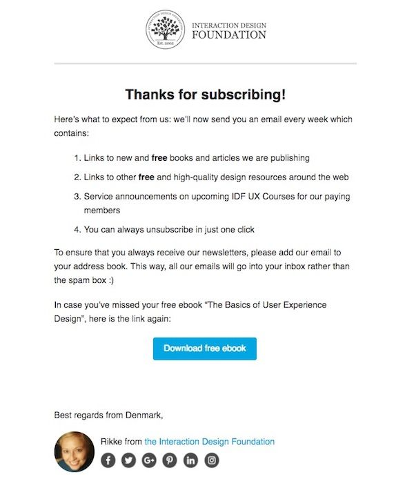 Email template - Email confirmed - Enjoy your free ebook