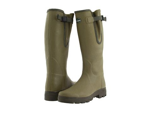 Le Chameau Vierzon Olive Green - Zappos - for dad / for mom - sturdy, bad weather boots