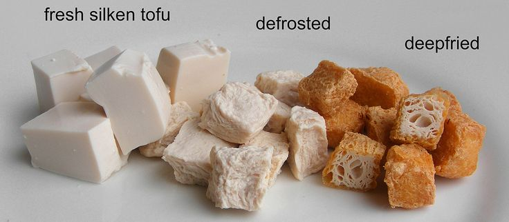 Meer lezen over tofu puffs of tofu beignets? Surf naar: www.aziatische-ingredienten.nl. Daar vind je ook het recept om zelf tofu-beignets te maken. How to make your own tofu puffs: 1. Cut silken (or soft) tofu into cubes. Freeze them, then defrost them. You can see the texture has totally changed. The tofucubes have become spongy. 2. Rest in a towel or something to drain the water, otherwise it will spit and spat too much when you deepfry them. 3. Deepfry until golden brown. (I did it at...