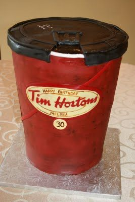 Oh, man, do I have to make this cake for mom or dad someday ... #cake #timhortons #coffee