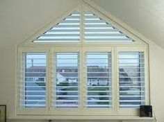 plantation shutters for triangular windows - Google Search