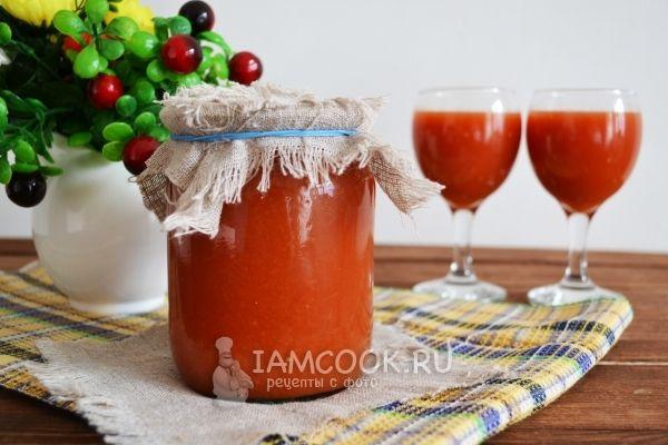 Сок томатный через сито на зиму