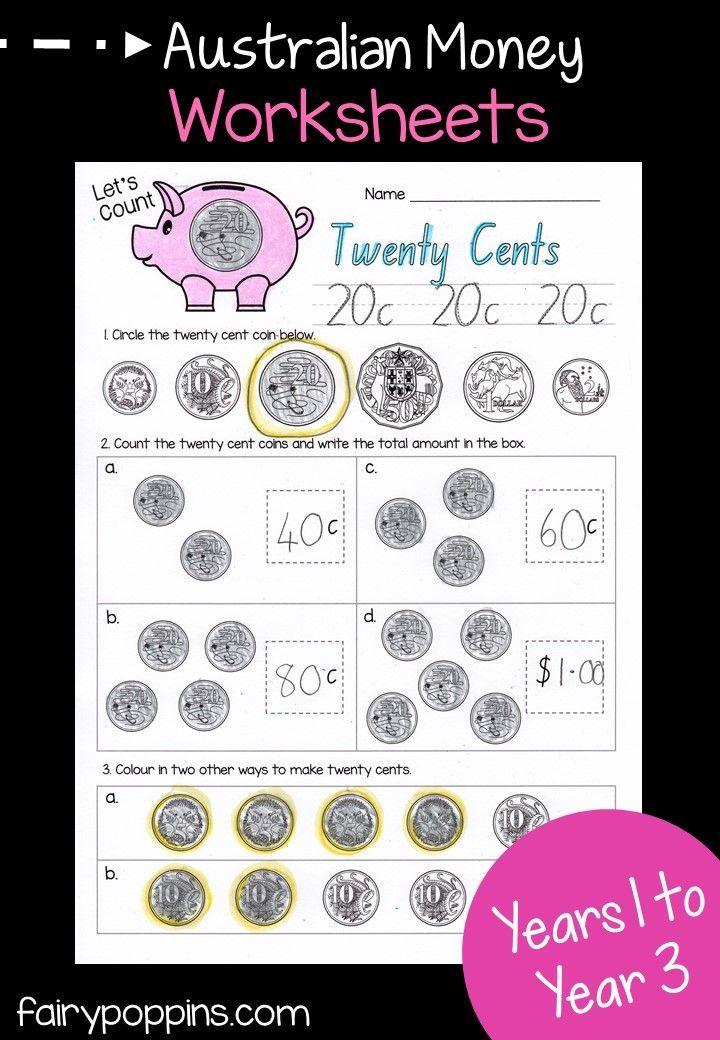 Australian Money Activities Money Worksheets Money Activities Australian Money Kindergarten money worksheets australia