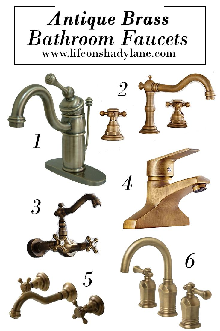 Antique Brass Bathroom Faucets - Affordable and Pretty!