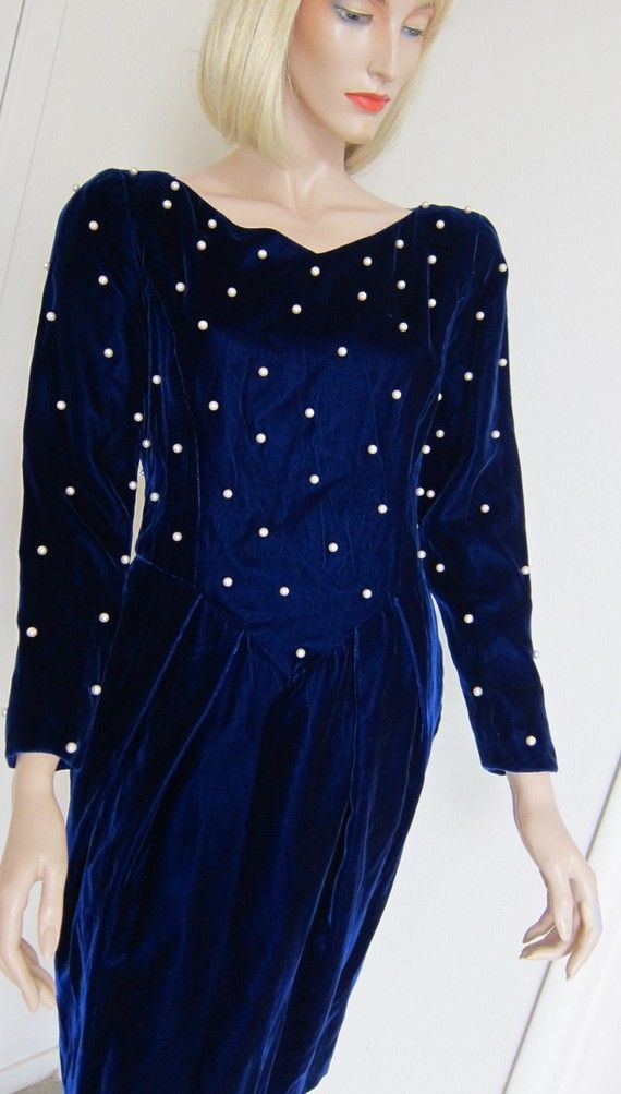 vintage dress velvet