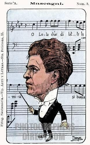 Pietro Mascagni - caricature by Donaz