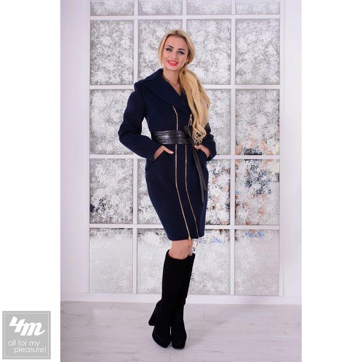 Пальто Modus «Бренд» (Тёмно-синий) http://lnk.al/2Ubt  Основной материалПальтовая ткань, производство Корея ОттенокТёмно-синий ПодкладкаАтласная, 100% нейлон ПоясСъёмный, из эко кожи. Цвет изделияСиний
