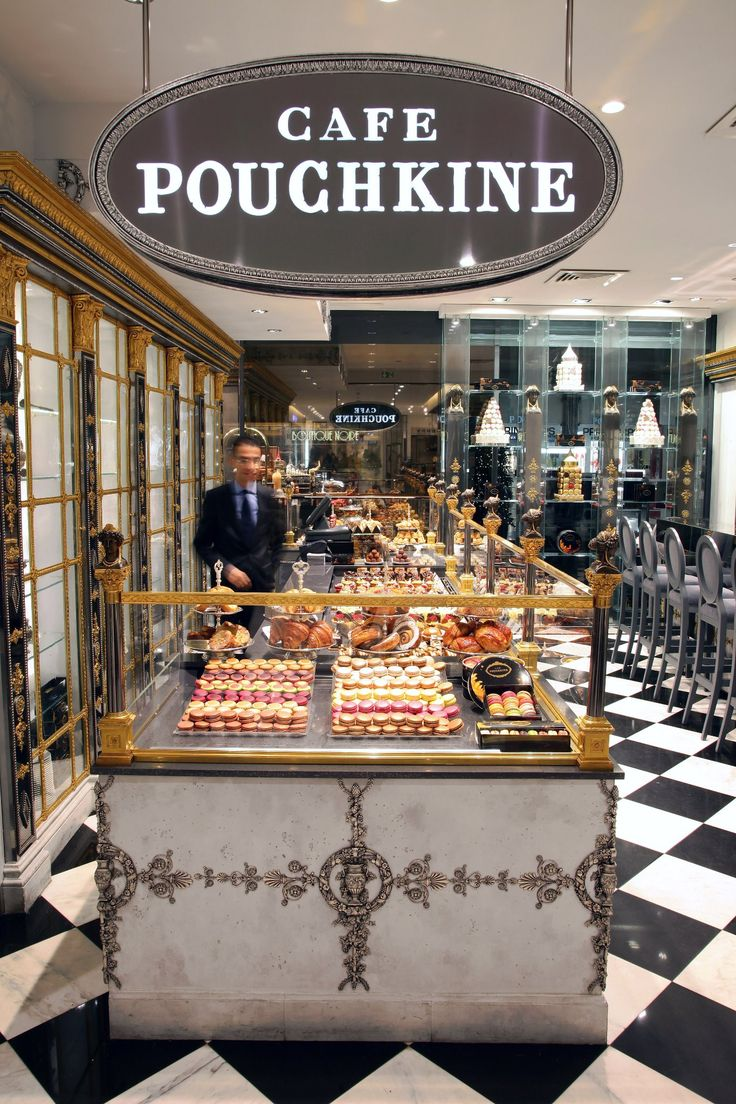 Café Pouchkine, 64 Boulevard Haussmann, Paris VIII https://gr.pinterest.com/AnkAdesign/the-taste-of-the-past/