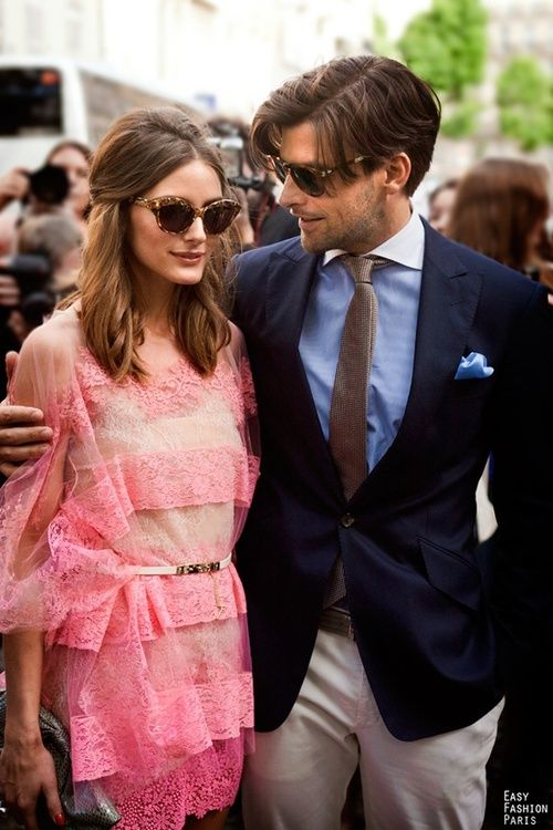 OP shades: Oliviapalermo, Johannes Huebl, Men Hair, Paris Fashion Week, Bridegroom, Olivia Palermo, The Dresses, Stylish Couple, Vintage Style