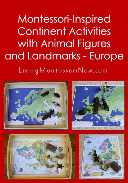 Montessori-Inspired Continent Activities with Animal Figures and Landmarks - Europe #SuliaMoms #preschool