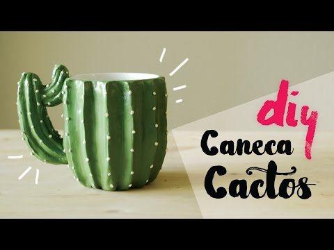 DIY: Caneca Cactos - Dia dos Namorados por Isabelle Verona - YouTube