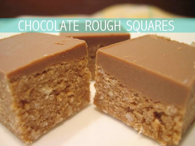 Easy, no-bake slice: Chocolate Rough Squares. YUM!
