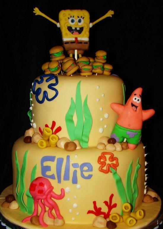 Spongebob Birthday Cakes Topper Spongebob Birthday Cakes