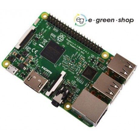 RASPBERRY Pi 3 Model B SBC processore microcontrollore ultimo sviluppo progetti arduino potenza elaborazione econnettività acquista su egreenshop