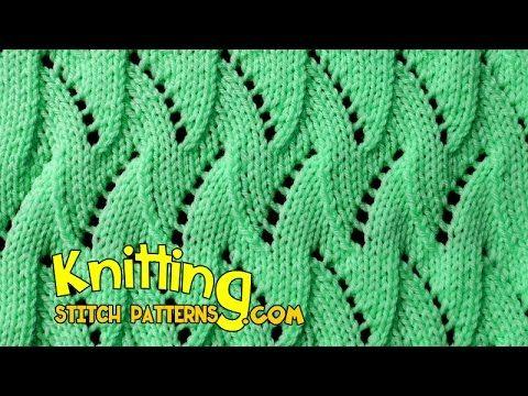 Flame Chevron | Lace Knitting #17 - YouTube
