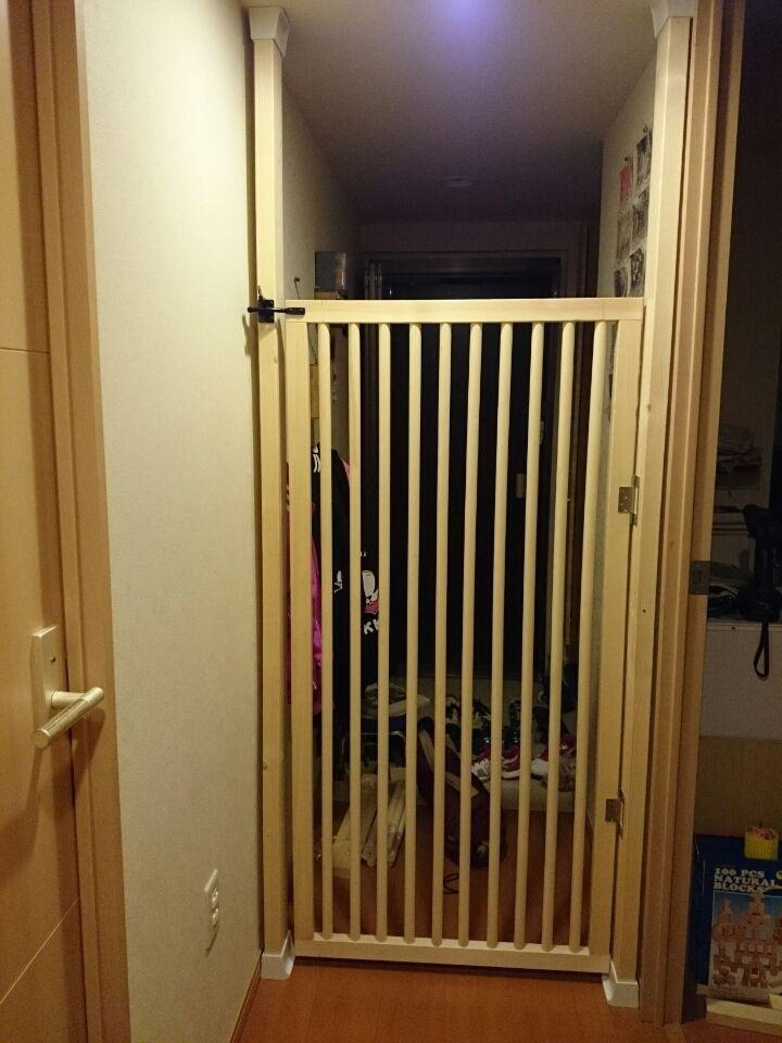 わか 猫の脱走防止扉を自作してみました ペットゲート ペット 柵 インテリア 収納