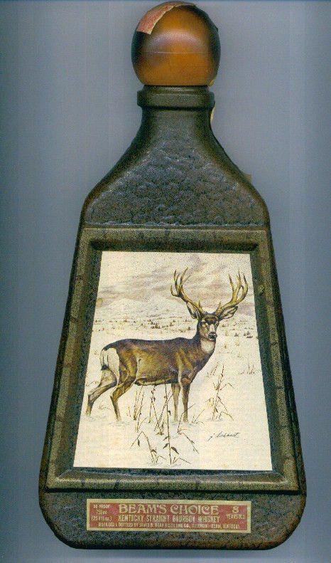 Mule Deer Art Deco Jim Beam Beams Choice Antique Whiskey