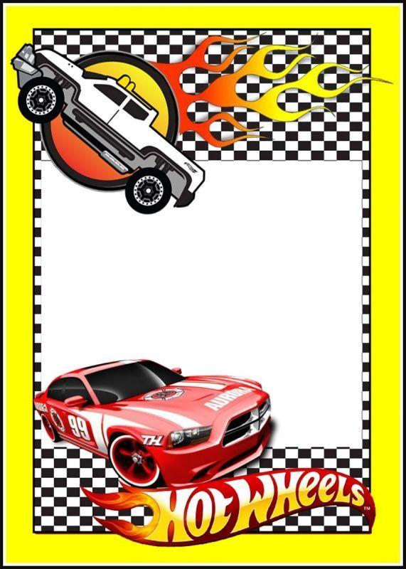 Printable Hot Wheels Invitation Card
