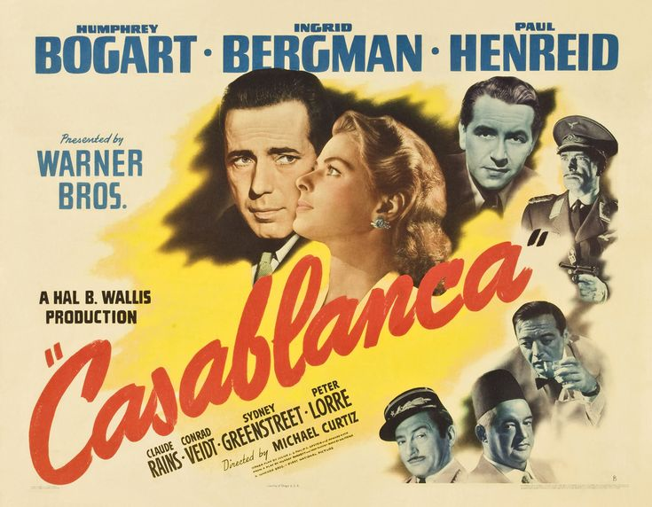 Casablanca {1942}  Set in Casablanca, Morocco during the early days of World War II: An American expatriate meets a former lover, with unforeseen complications.