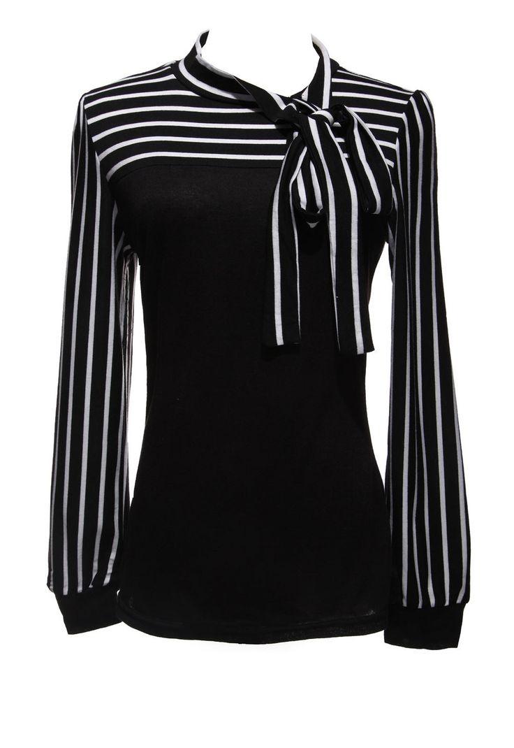 S-4XL 2016 Zanzea Fashion OL Tops Women Ladies Autumn Blusas Stripe Lantern Long Sleeve Turtleneck Bowknot Slim Shirts Blouses
