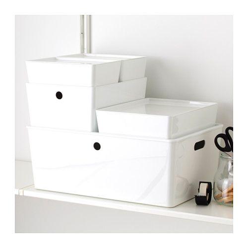 "KUGGIS Box with lid - 14 ½x21 ¼x8 ¼ "" - IKEA"