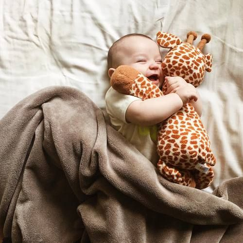 Imagem de baby, smile, and giraffe