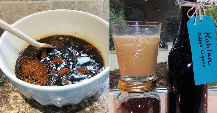 Recept na domácí kávový likér