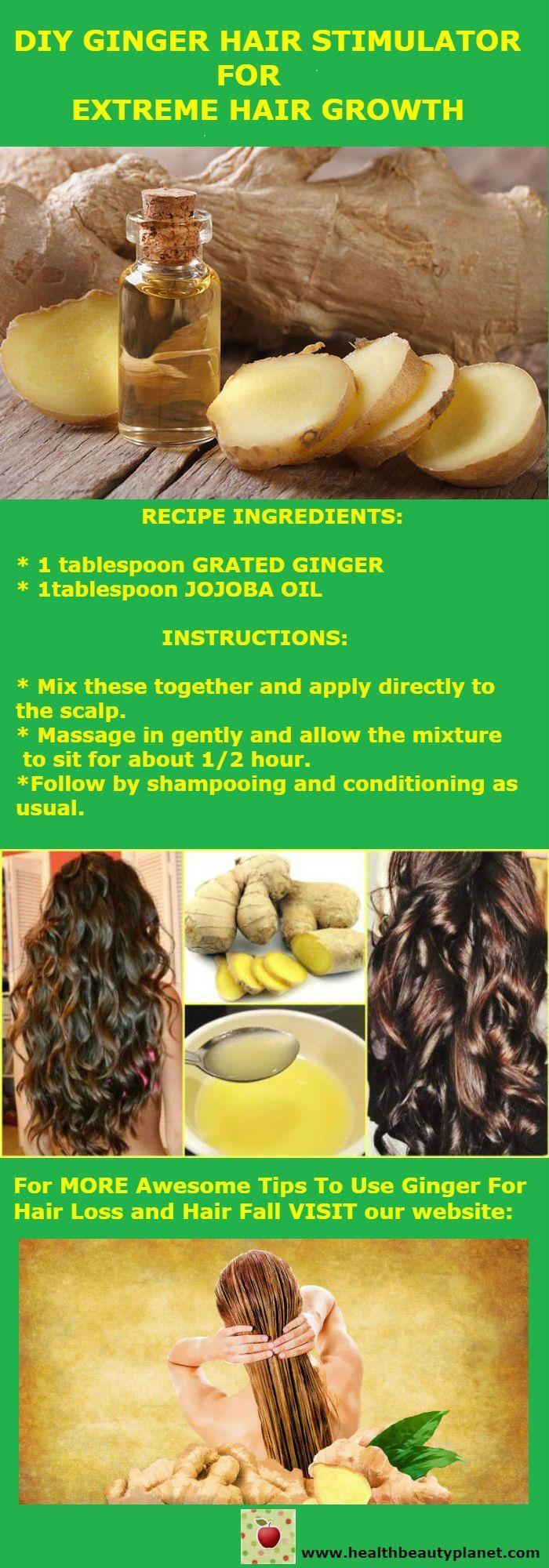 DIY Ginger Hair Stimulator For Extreme Hair Growth