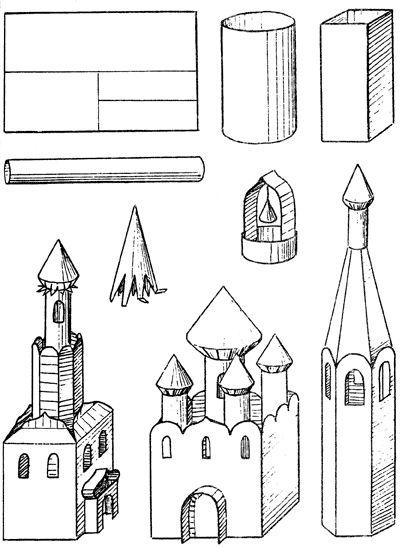 Архитектурные здания из бумаги пошаговая инструкция