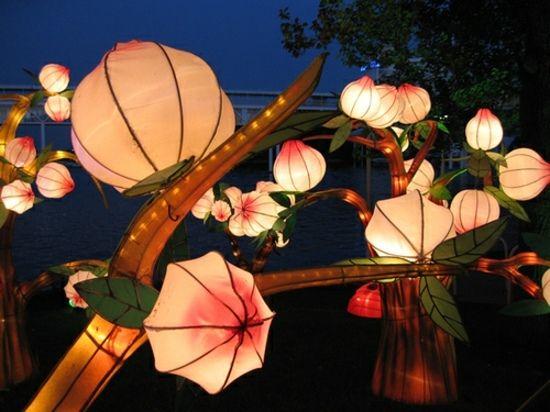 Laterne japanischer Stil  Garten Deko Ideen