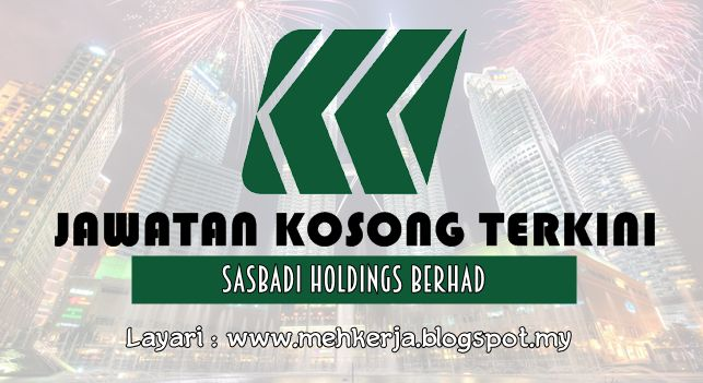 Jawatan Kosong di Sasbadi Holdings Berhad - 10 Sept 2016   Founded in 1985 Sasbadi began with a dream to publish quality academic books for Malaysian students. Through a unique blend of creativity in product design and sensitivity to user experience Sasbadi grew from strength to strength building upon its foundation and in no time it transformed itself into an industry leader. Today we are no longer just a publisher of books; we are an established Education Solutions Provider. Our vision is…