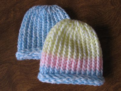 Simple newborn pattern - perfect for our cap donating project