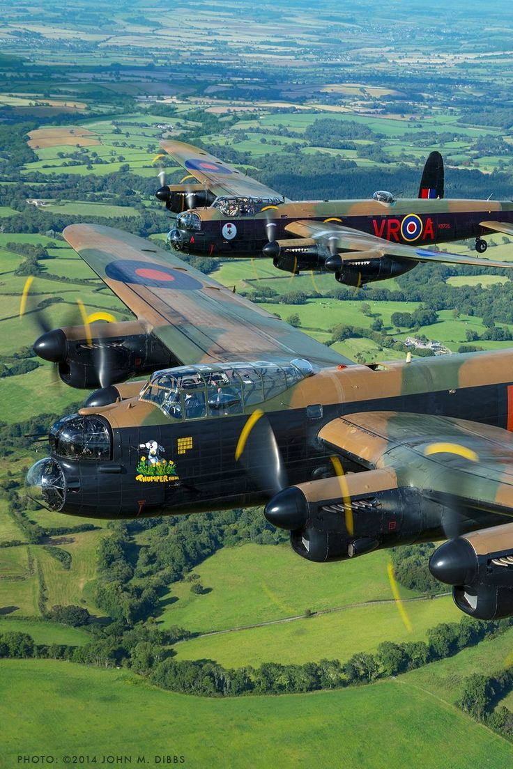 "beautifulwarbirds: "" Lancasters, taken by John Dibbs. """