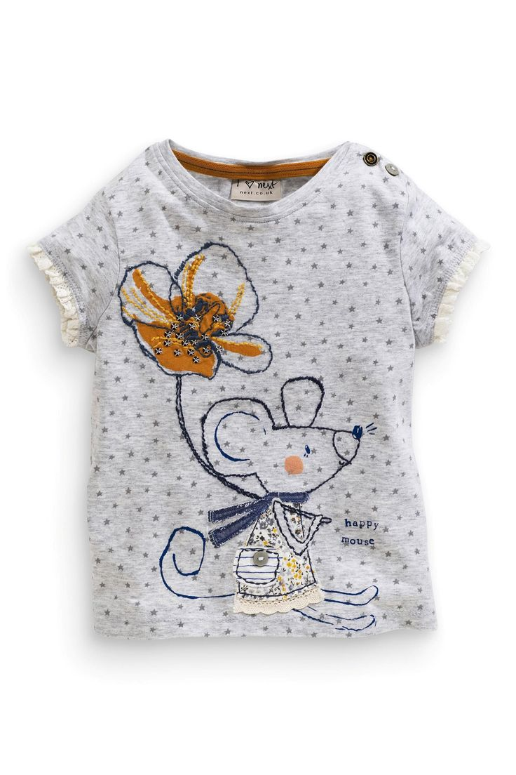 Buy Grey Star Mouse T-Shirt (3mths-6yrs) from the Next UK online shop