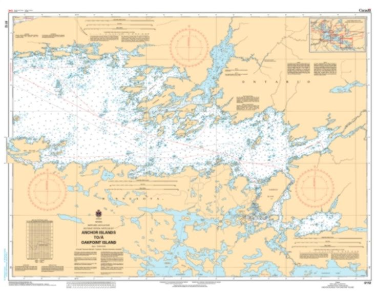 Rainy Lake/Lac a la Pluie, Southeast Portion/Partie Sud-Est Anchor Isslands to/a Oakpoint Island by Canadian Hydrographic Service