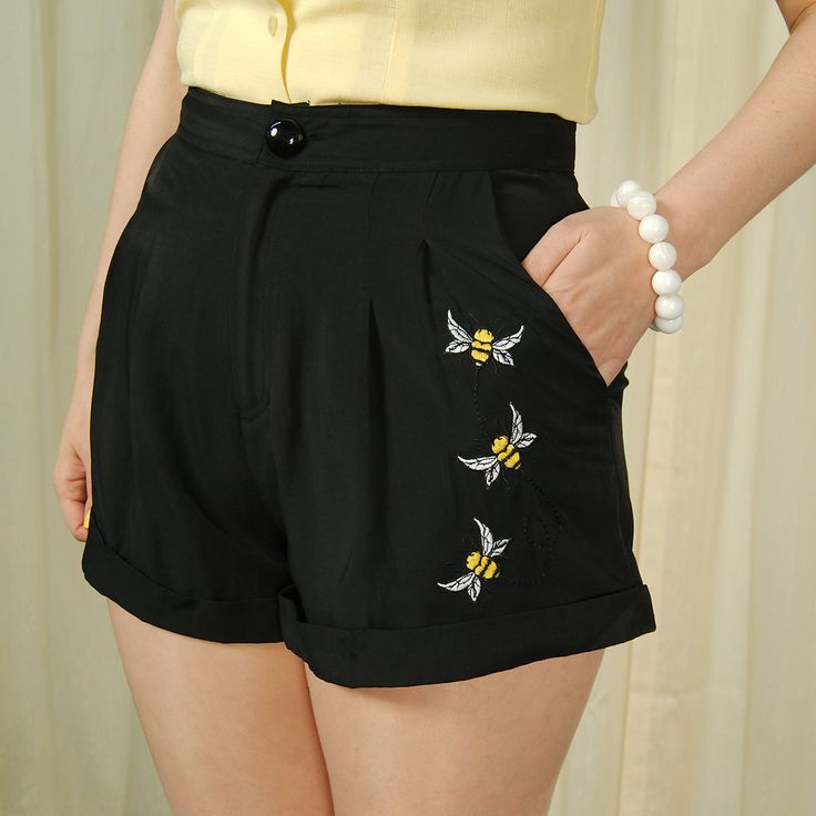 Natasha Honey Bee Shorts  +  Couldn't wear for thesis defense, but maybe to school the day of? or maybe to dinner afterwards?