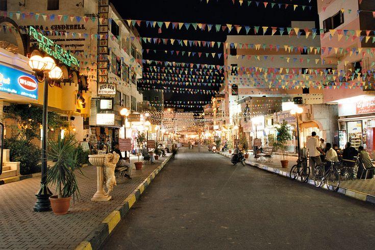 Hurghada, Egypt Main Bazaar St. in Elda7ar