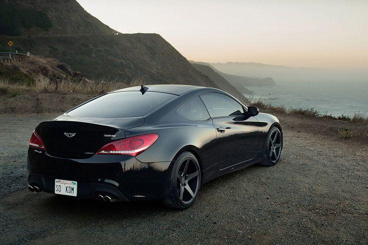 Hyundai Genesis Coupe 2014 Black Rims