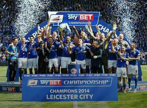 Leicester City...CHAMPIONS!! Congratulations LCFC for winning the Championship title!