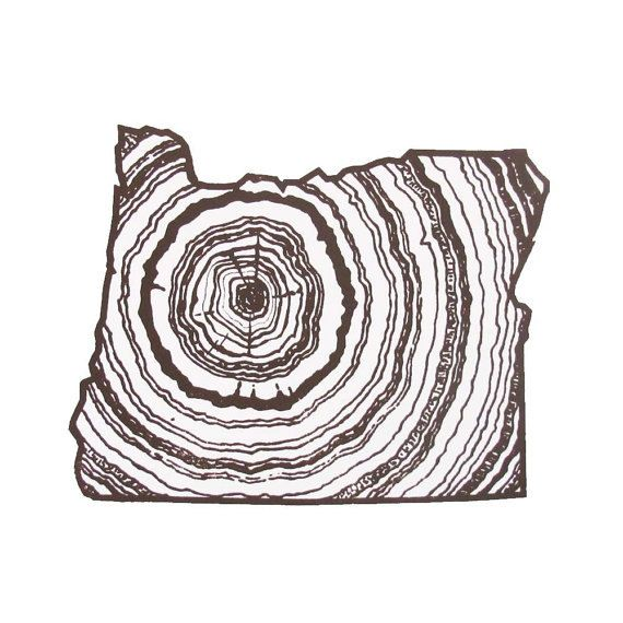 Oregon State Woodgrain Screenprint