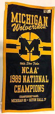 Michigan Wolverines NCAA Basketball Banner