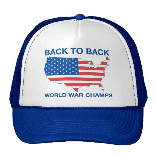 Back to Back World War Champs America Hat