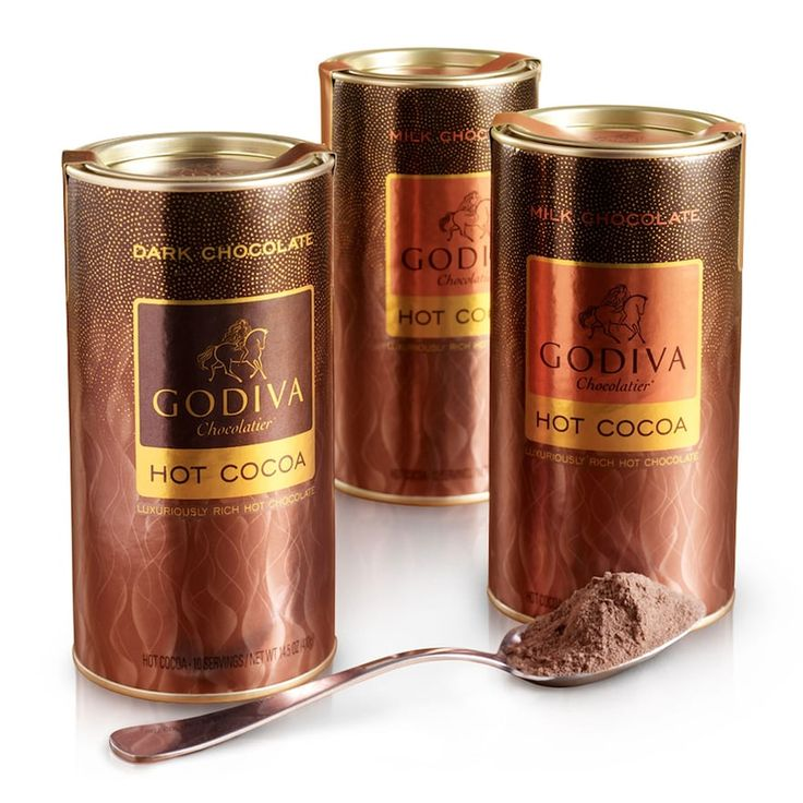 Godiva Chocolatier Hot Cocoa Variety Pack, Multicolor