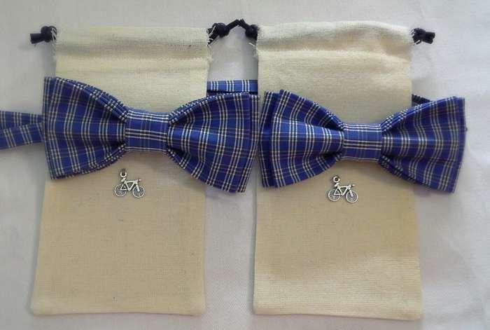 bow-tie  neck-tie  butterfly  (Галстуки-бабочки) Дуэт. Синяя клетка.