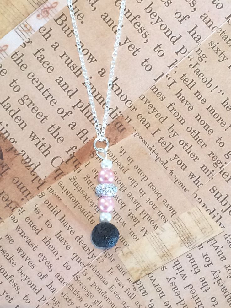 Pink Cluster Pearl Lava Bead Necklace  • diffuse your essential oils in style with our handmade jewellery •  #lavabeads #essentialoils #chemicalfree #diffuser #jewelry #jewellery #dropdesigns #aromatic #doterra #youngliving
