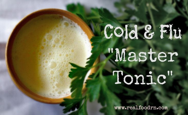 "Cold and Flu ""Master Tonic"" - Real Food RN"