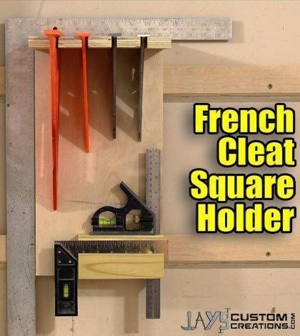 DIY Woodworking Ideas french cleat tool storage - Google Search